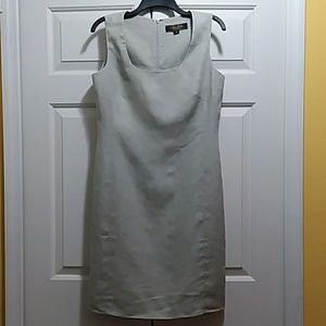 Brooks Brothers linen shift sleeveless dress lined